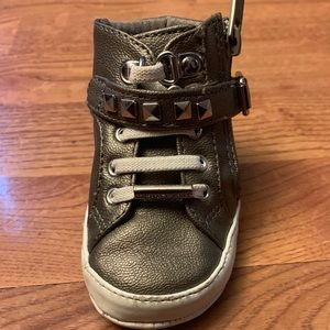 Infant size 3 Michael Kors hightop shoes